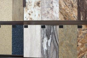 Granite Tile Flooring Samples in Timberline Flooring Store