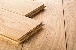Hardwood floor ready to install