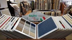 Carpet runner selection inside Timberline Flooring Houston