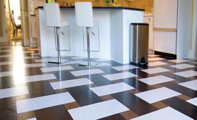 Cork floor at Timberline Flooring Center Houston