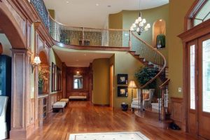 Hardwood floor installed in a beautiful house
