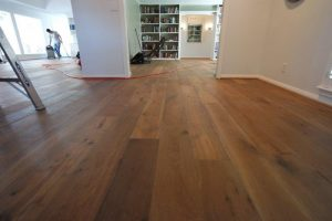 Hardwood installation after the surface is prepared
