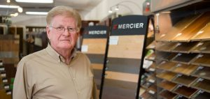 Micheal O'Brien Sales Manager Timberline Flooring with Background