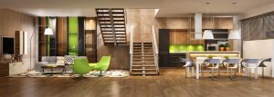 House with modern flooring and interior design