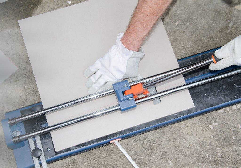 Avoiding Chips While Cutting Porcelain Tile Flooring