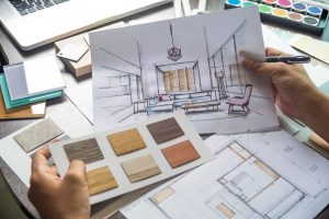 Flooring expert is working on a flooring project