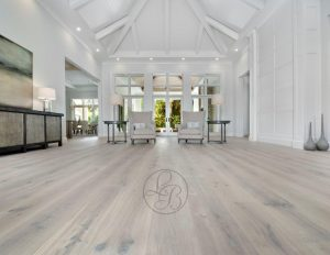 Cleaning the hardwood flooring
