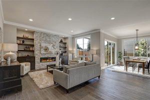 Modern living room floor
