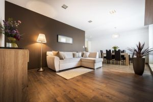 Luxury floor with professional installation preparation