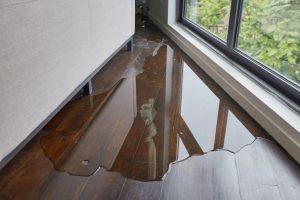 damaged hardwood floor
