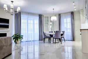 Marble Flooring installed in living room