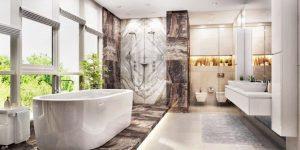 Exclusive premium grade tile for luxury bathroom