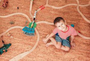 Cork Floor installed in Kids room