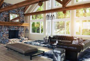 Modern upscale home with hardwood floor